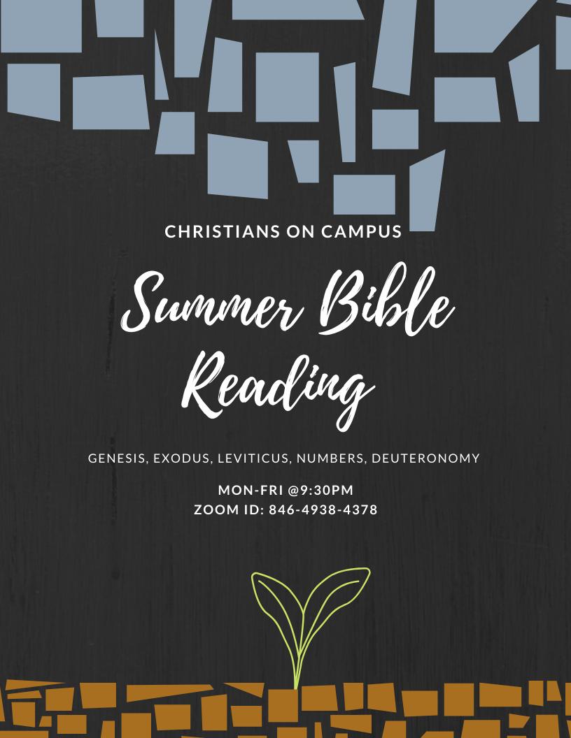 Summer Bible Reading Series